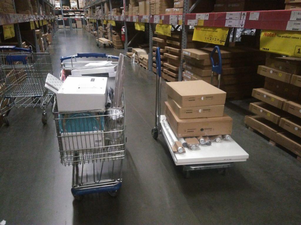 Compras dos móveis na Ikea