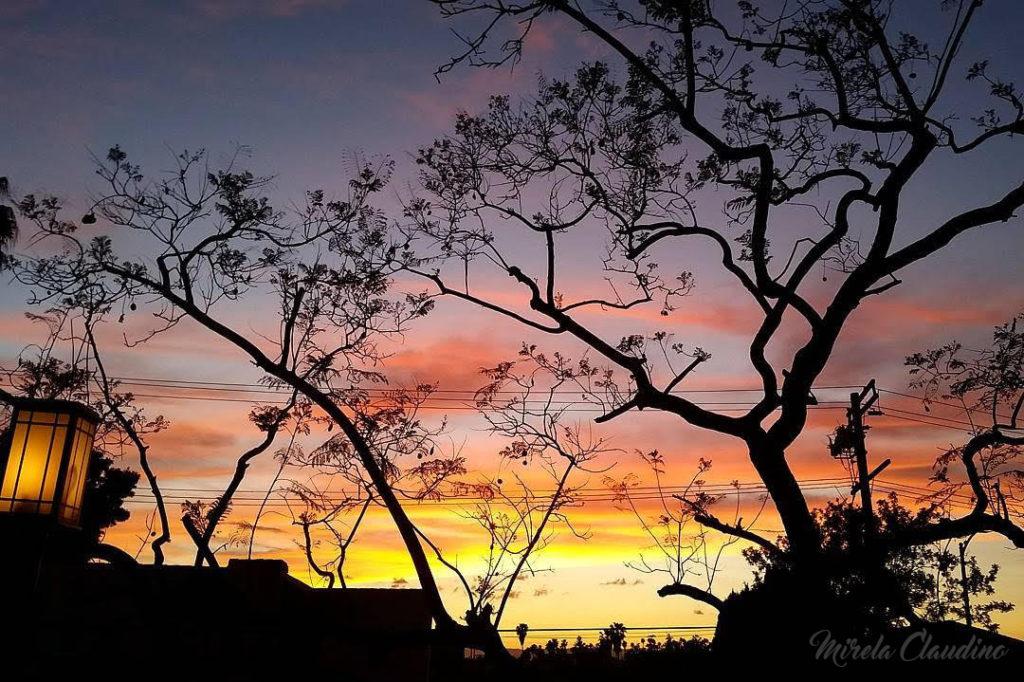 Sunset da minha casa em LA